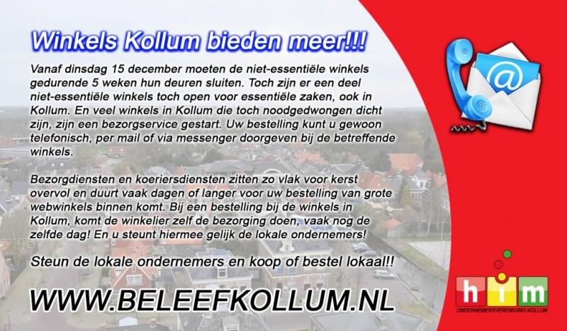 Winkels Kollum bieden meer!!!