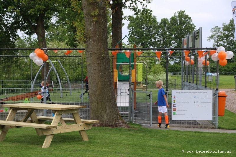Opening speeltuin bij VV Kollum