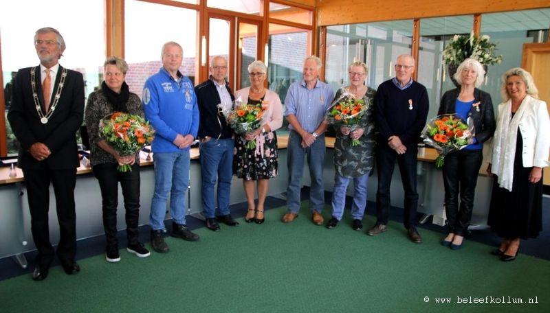 Drie Kollumers Koninklijk onderscheiden tijdens Lintjesregen