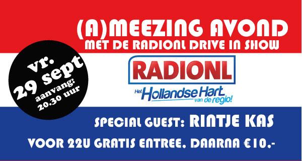 Win vrijkaarten voor RadioNL Drive in Show